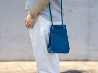 2way巾着バッグ ブルーの画像