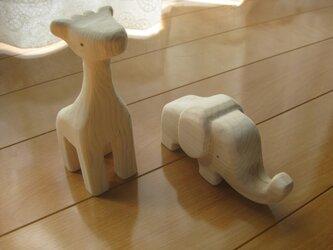 木製動物おもちゃ(彫刻)の画像
