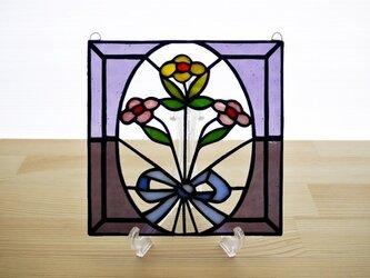 ステンドグラス ミニパネル 花束 15cmの画像