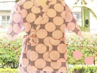 ドット柄♡涼しい夏 甚平セット(ピンク)の画像