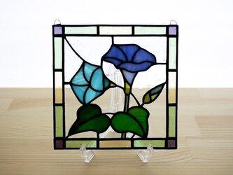 ステンドグラス ミニパネル 朝顔 15cmの画像