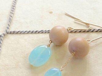 【1点もの】Sandalwood*blue opal*pierceの画像