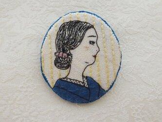 《日本刺繍》ときめきブローチ ‐1918の画像