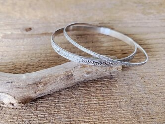 Design Bangle set /silverの画像