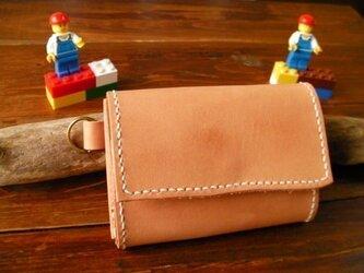 栃木レザー ヌメ革 小銭入れ 一点もの の画像