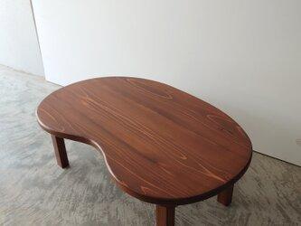 レトロチックなビーンズテーブルの画像