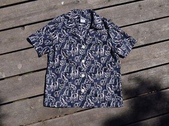 Nyaloha shirt ニャロハシャツ 播州織 bansyuori cotton ワイドシャツの画像