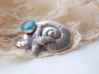 海に生きる物たちのブローチ[SILVER950]の画像