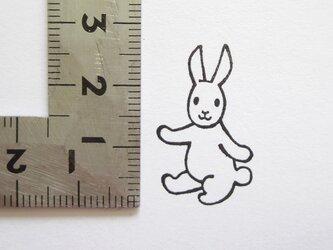 スタンプ/ゴム印/はんこ 「ごきげんウサギ」の画像