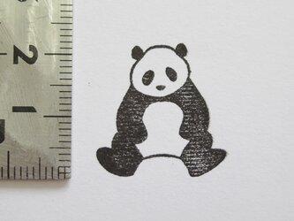 スタンプ/ゴム印/はんこ 「パンダ 前向き」の画像