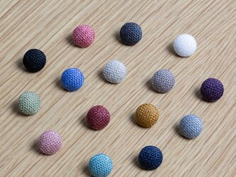リネン地で包んだ8mmのくるみボタン (8ケセット・全15色)の画像