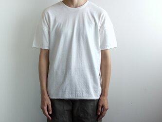 dual-layered fabric tshirt/whiteの画像