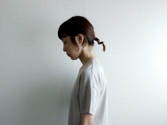 dual-layered fabric tshirt/light grayの画像