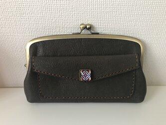 【N様ご予約品】外ポッケ付き本革ふっくら親子がま長財布の画像