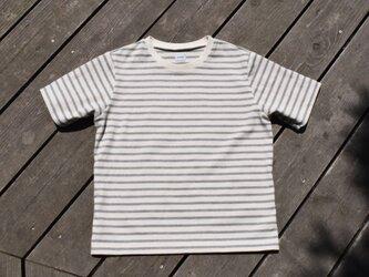 別注 Crew border ボーダー クルーネック Tシャツの画像