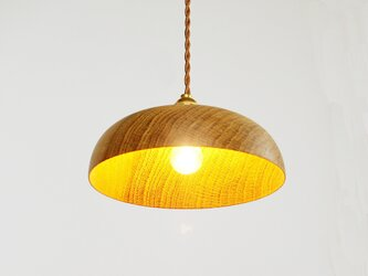 木製 ペンダントランプ 天井照明 楢材10の画像