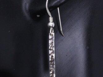ピアス メンズ レディース : 丸鎚目 シルバーピアス 1ヶ フック仕様の画像