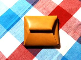 本革 一枚革コインケース 《名入れ刻印可》の画像