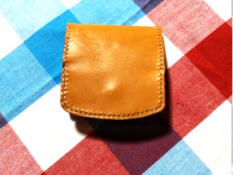 本革box型コインケース 手縫い《名入れ刻印可》の画像