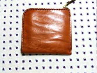 10×10㎝ 高級オイルドレザー L字ファスナーミニウォレット(L字ミニ財布)の画像