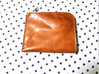 10×12㎝ 高級オイルドレザー L字ファスナーミニウォレット(L字ミニ財布)の画像