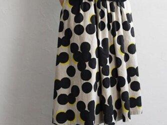 【受注製作】天然素材で・サスペンダー付き 2wayギャザースカートの画像