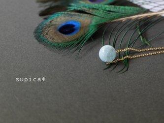 s130 G158 アクアマリンのネックレスの画像