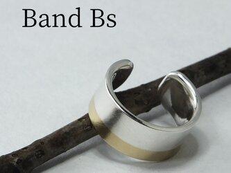 C-BandBsW6 - 銀と真鍮帯のイヤーカフ 幅6mmの画像