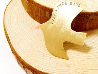 Free Bird ブローチ(真鍮)の画像