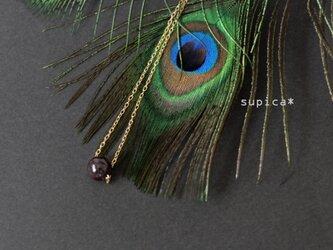 s134 G153 ガーネットのネックレスの画像