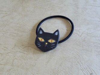 ヘアゴム/猫-BKの画像