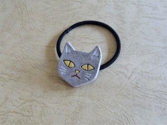 ヘアゴム/猫-GYの画像