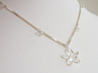 星の水晶シルバーネックレスの画像