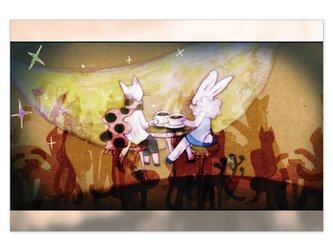 選べるポストカード/2枚セット『No.178 お月様の喫茶店』の画像