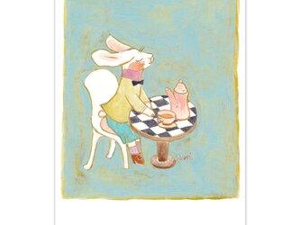 選べるポストカード/2枚セット『No.204 三月兎のお茶会』の画像