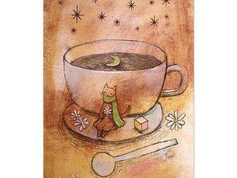 選べるポストカード/2枚セット『No.261 月と珈琲と、、、』の画像