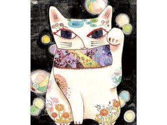 選べるポストカード/2枚セット『No.201 招き猫-紙風船-』の画像
