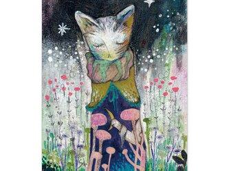 選べるポストカード/2枚セット『No.257 ふくろう森の月猫』の画像