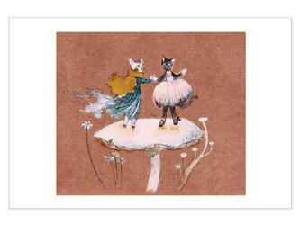 選べるポストカード/2枚セット『No.238 踊り子猫と旅猫』の画像
