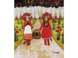 選べるポストカード/2枚セット『No.189 キノコひろい』の画像