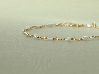 K18 芥子真珠のブレスレットの画像