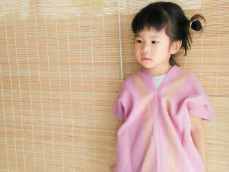 セール価格!タイの草木染め&手織りトップス/ ピンク ライン/ キッズ/ コットンの画像