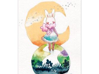 選べるポストカード/2枚セット『No.265 三日月うさぎⅡ』の画像