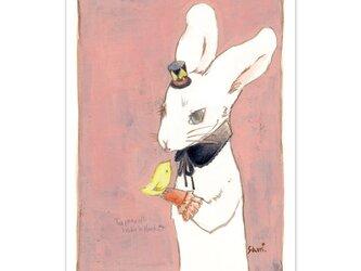 選べるポストカード/2枚セット『No.203 帽子屋うさぎと檸檬鳥』の画像