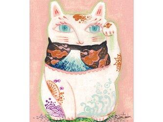 選べるポストカード/2枚セット『No.247招き猫_富士山』の画像