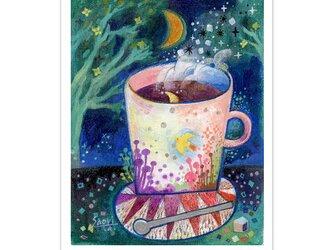 選べるポストカード/2枚セット『No.270 月と珈琲-檸檬鳥』の画像