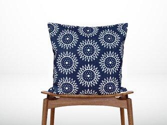 森のクッション Sunflowers Back Navy blue -ヒノキの香り-の画像