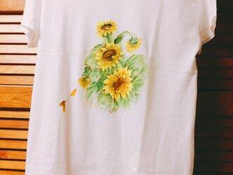 ひまわりのTシャツの画像