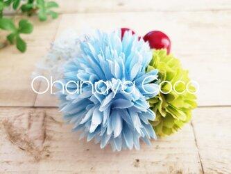 花funwari  ポンマムとチュールの髪飾り クリップピンタイプNo583の画像