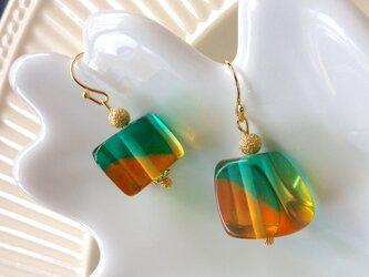 mint & honey drop pierced earringの画像